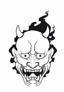Demon Japonais Dessin : pingl par dhilan sur boye pinterest japonais masque japonais et tatouages ~ Maxctalentgroup.com Avis de Voitures