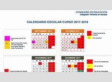 Publicado el calendario escolar de Granada para el curso