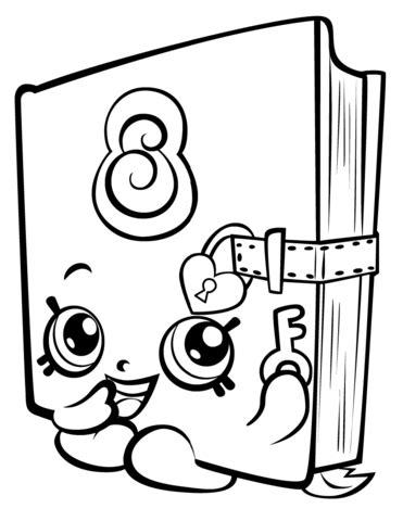 Secret Sally Shopkin coloring page Free Printable