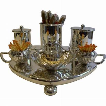 Cigar Rubylane Themed Rare Antique Silver Compendium