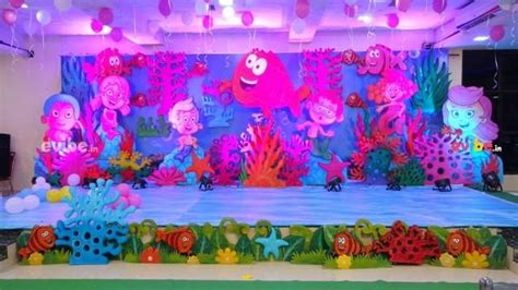 amazing underwater theme decor birthday  party hall