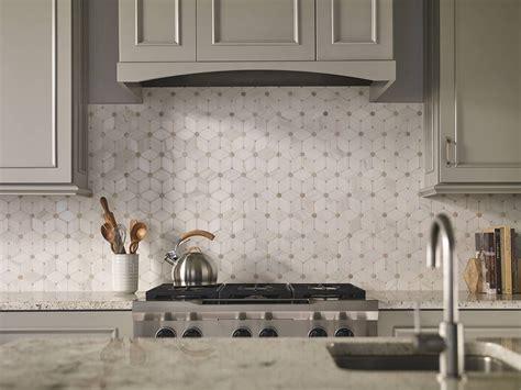 mosaic tile backsplash kitchen ideas cecily pattern polished tiles in 2019 tiles white