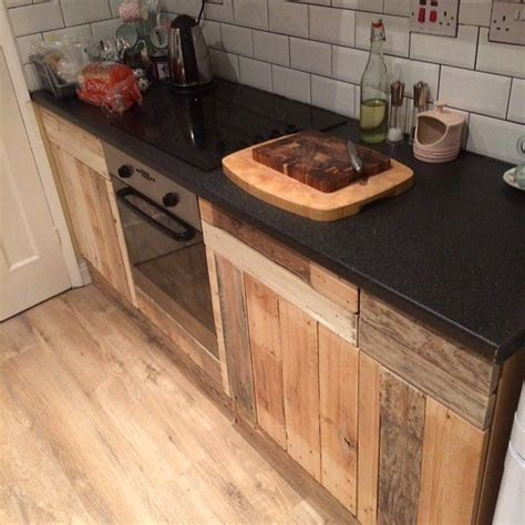 wooden pallet kitchen cabinets kitchen cabinets made from wooden pallets pallets idea