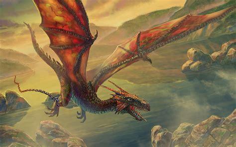 Flaying Dragon Fantasy Artwork Wallpapers HD / Desktop and ...