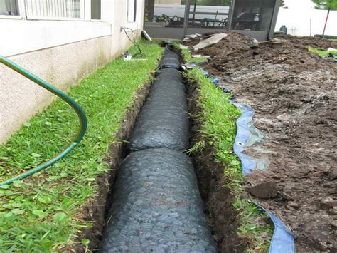 yard drains planning ideas french drain design installation installing french drain in yard perforated