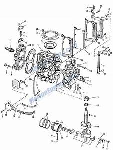 Johnson Powerhead Group Parts For 1964 5 5hp Cd