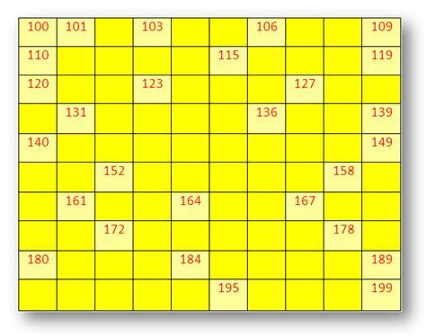 missing number worksheet   missing number chart