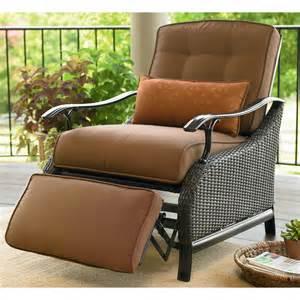 Sears Patio Furniture Wicker by La Z Boy Outdoor Austin Recliner Shop Your Way Online