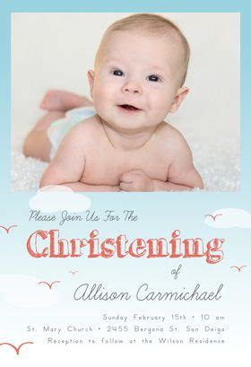All Smiles Baptism & Christening Invitation Template
