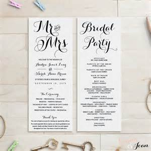 diy wedding program templates wedding program template wedding order of service 2480548