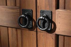 hardware for barn doors traditional ring pull in rust With barn door ring pulls