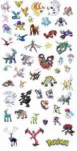 all legendary pokemon names images
