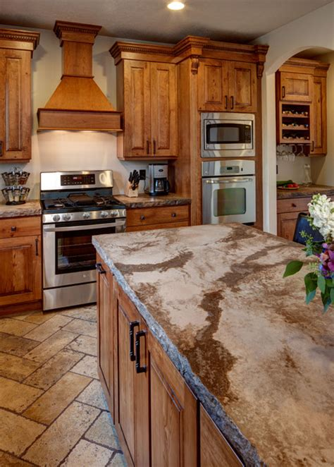 rustic cherry kitchen cabinets rustic cherry traditional kitchen salt lake city 4964