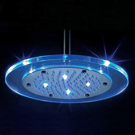 8 inch shower with color changing led light