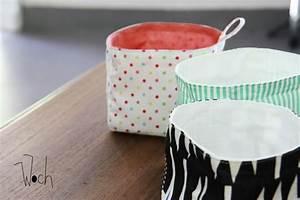 Petit Cadeau à Faire En Couture : le tuto du panier en tissu diy pour le weekend woch made in gwada ~ Melissatoandfro.com Idées de Décoration