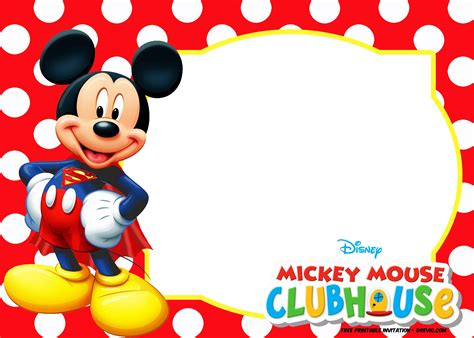 Mickey Mouse Invitations Template by Free Free Mickey Mouse Summer Invitation Template