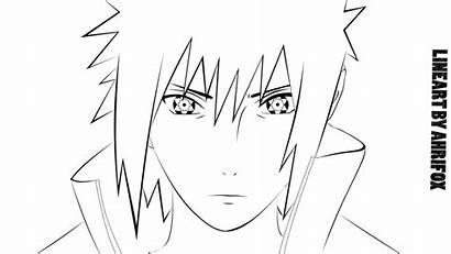 Sasuke Uchiha Lineart Naruto Madara Line Deviantart