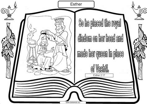 Printable Coloring Pages Of Queen Esther