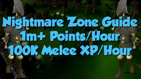 osrs nightmare zone melee guide points 1m