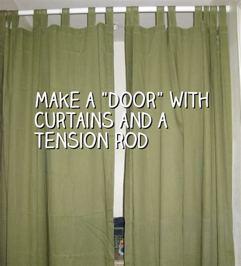 make a door with curtains and a tension rod snappy living