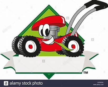 Lawn Mower Cartoon Mowing Clip Clipart Template