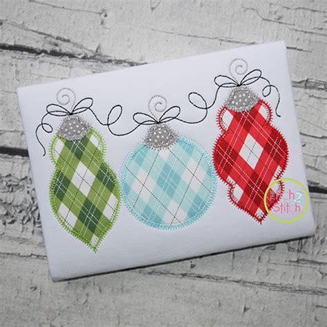 zig zag applique ornament trio zigzag applique the itch 2 stitch