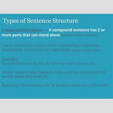 Ppt  Sentence Structure Sentence Types Powerpoint