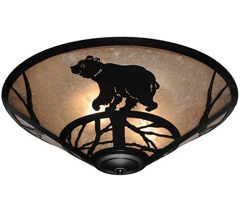 happy bear flush mount ceiling light cabin place
