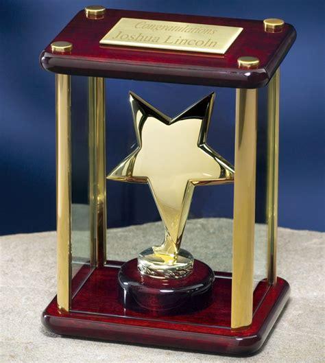 gold column star award hit trophy
