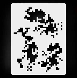 """Digital Camo 1"" Pattern Texture Airbrush Stencil Template ..."