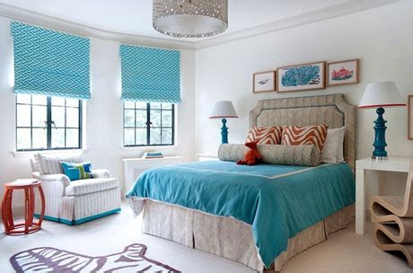 Turquoise And Orange Bedroom by Turquoise And Orange Interior Design Color Palettes