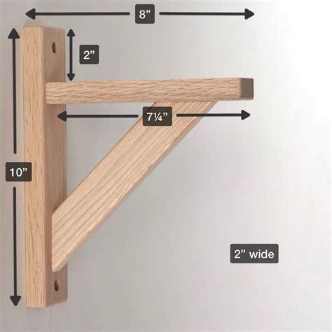 amazoncom wood shelf bracket oak straight  hardware