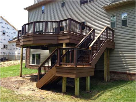 beautiful deck designs  walkout basement ga deck