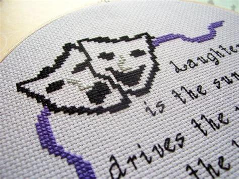 Comedy Tragedy Masks Cross Stitch