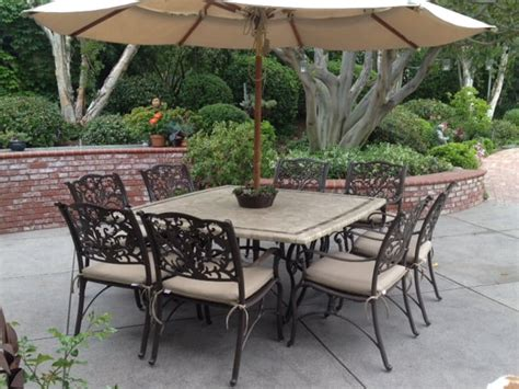 costco set upgraded with new powder coat sunbrella