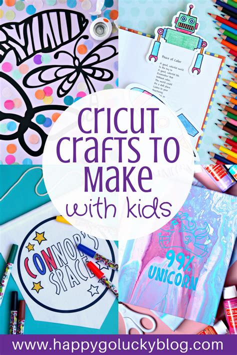 cricut crafts    kids happy  lucky