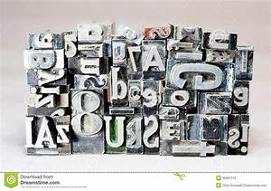 printing press typeset typography text letters stock With old printing press letters