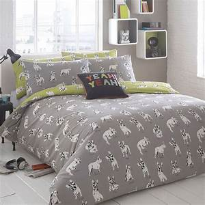 ben de lisi home grey 39sketchy dog39 bedding set from With dog bedroom set