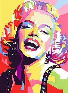 Marylin Monroe Pop Art Painting by Ahmad Nusyirwan