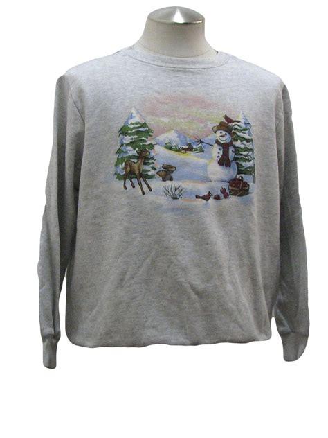 womens ugly christmas sweatshirt blair womens gray