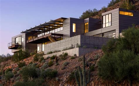 concrete glass  steel structure hovers  arizona