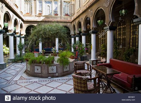 A courtyard of a traditional Syrian family house. Old City