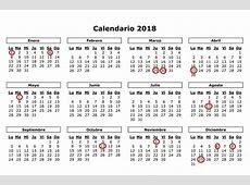 Aprobado el calendario laboral para 2018