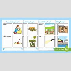 More Simple Sentence Writing Prompt Picture Cards  Cvc Words, Phase 3