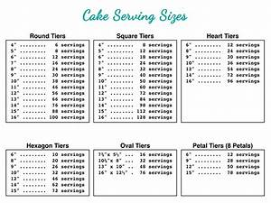 Pin By Suziq Treats On Real Deal Cake Sizes And Servings
