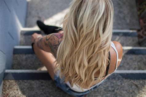 images girl hairstyle long hair neck blond