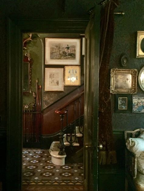 vintage green manor dark wood inspiration  ideas