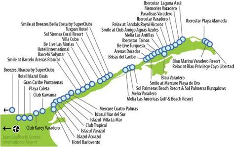 map  varadero cuba resorts sunwing vacations cuba