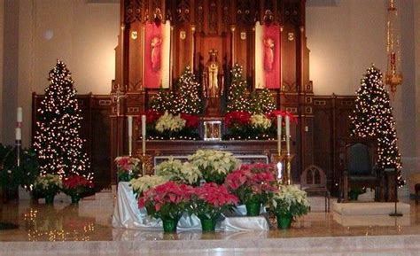 roman catholic church christmas decorations church decorations sanctuary at church church decorations