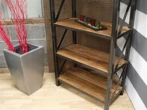 Mobilier Bois Design : mobilier industriel meuble de style industriel bois et acier sur mesure micheli design ~ Melissatoandfro.com Idées de Décoration